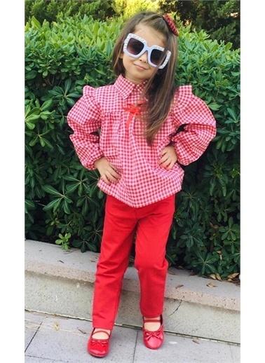 Riccotarz Kız Çocuk Piti Kare Kırmızı Alt Üst Takım Renkli